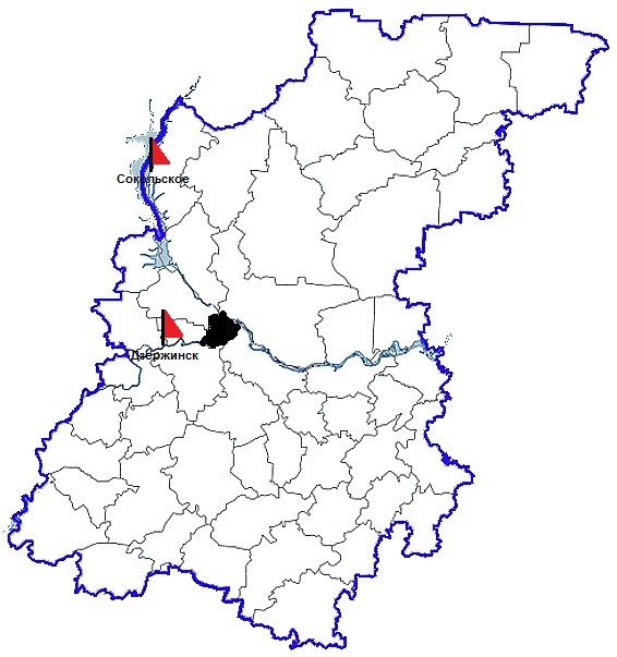 карта с отметками